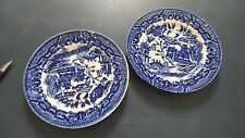 Set of 2 Blue Willow Small Plate Transorware -Japan