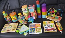 baby toys bundle branded toys. Vtech.  Fisher price.  ELC. Fun time. M&P cubes