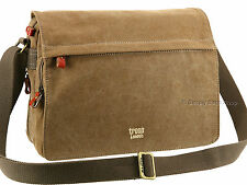 Troop London Trp0241 Brown Classic Canvas Laptop Bag