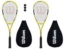 2 x Wilson Ripper 133 BLX Squash Rackets + Cover + 3 Squash Balls RRP £330