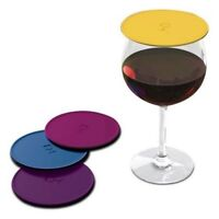 Drink Tops Outdoor Drink Covers Set, Gently Suctions to Glasses Keeping Bugs Out