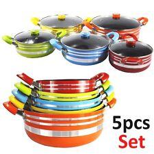 Professional  GRANITE 5PCS NON-Stick Cookware Set Pot Sauce Pan Lid Induction HQ
