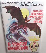 """El Vampiro Sangriento Spanish Movie Poster 2"""" x 3"""" Refrigerator Locker MAGNET"""