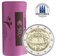 25 x pays-Bas 2 euro pièce commémorative 2007 BFR. traités de rome dans rôle