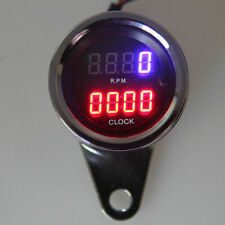 Motorcycle Scooter Dirt Bike ATV MX Bike Tachometer LED Backlight Digital Meter