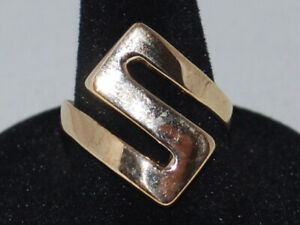 10k Yellow Gold Slave Style Ring With A Solid Gold S In The Design, Weighs 5.4 G