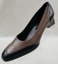 Etienne Aigner Analee Classic Heels Womens Two Tone Black Brown Shoes Sz 7M NWOB