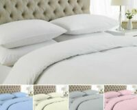 LUXURY DUVET COVER SET 100% EGYPTIAN COTTON 200 THREAD COUNT QUILT BEDDING SETS
