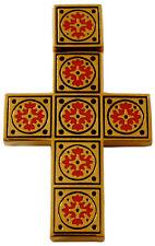 Croix Pendentif Symbole Chrétien Croix Or plaque émail Croix Pendentif