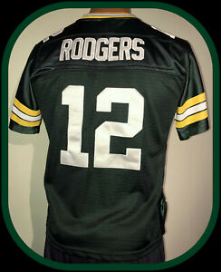 GREEN BAY PACKERS AARON RODGERS REEBOK STITCHED JERSEY WOMENS MEDIUM FREE SHIP