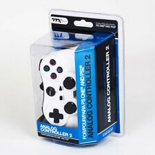 New Dual Vibration Shock Controller for Sony PS1 or PS2 (WHITE)