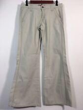 Levis Jeans Junior Size 9 Beige LOW SLOUCH Flare Leg Denim