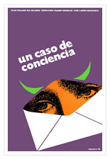 Cuban movie Poster.UN CASO de conciencia.Italian film by Gianni Grimaldi.Purple