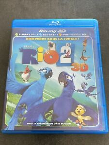 RIO 2 BLURAY 3D + BLURAY + DVD DREAMWORKS FRANCE