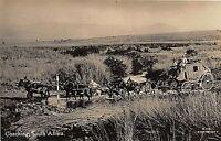 POSTCARD SOUTH AFRICA TRANSVAAL - MAIL COACH CROSSING A DRIFT   - CIRCA 1910