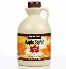 Kirkland Signature 1L Canadian Dark Amber Maple Syrup - 2 Pieces