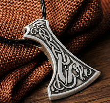 Valknut Odin 's Symbol of Norse Viking Warriors Mammen Axe Pendant necklace
