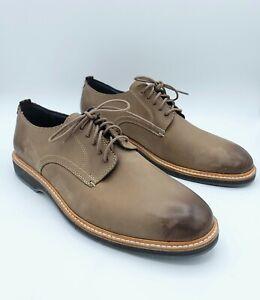 Cole Haan Men's Morris Plain Leather Derby Oxford Dress Shoes - Taupe - 8.5M