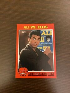 MUHAMMAD ALI 2021 TOPPS THE PEOPLE'S CHAMP ALI VS. ELLIS RED /10