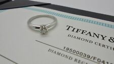 Authentic Tiffany & Co. 0.25ct E VVS2 Solitaire Round Diamond Engagement Ring