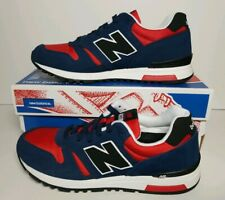 NEW BALANCE MEN CLASSICS  SHOES SIZE 9.5 NEW IN BOX ML565AAA BLUE RED