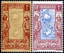 """COLONIES SAINT-PIERRE et MIQUELON N° 136 NEUF* Variété """"VOIR DESCRIPTIF"""""""