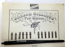 Joseph Gillott Tit Quill Card (12 nibs) and Pen Staff