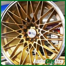 F1R F23 18X10.5 ET+20  5X114.3 / 5-100 GOLD POLISH fit LEXUS IS250 IS300  sale