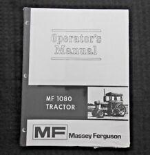 1969-72 MASSEY-FERGUSON MF1080 MF 1080 TRACTOR OPERATORS MANUAL MINT SEALED