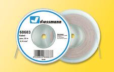 Viessmann 68683 Câble sur bobine de déroulage, gris, 25m (1M =