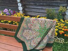 "Russian 1077-9 Pavlovo-Posad scarf (35х35"") (89x89 cm) 100% wool"
