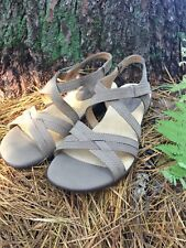 SoftSpots Womens Peoria Sandals Shoes Platforms Wedges Casual Stone Taupe 7.5 W