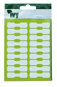 360 Price Labels Dumbell Tags White Jewellery Tags 10mm x 38mm Self Adhesive-Ivy