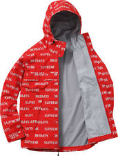 FW 16 New Supreme 3M Reflective Repeat Taped Seam Jacket Red Size L Large New