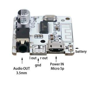 1xDIY Car Bluetooth Audio Receiver 5.0 Stereo Music 3.5mm Board Decoder P9F7