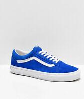 NEW Vans Old Skool Pig Suede Princess Blue Skate Shoes Mens