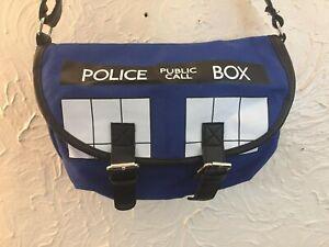 DOCTOR WHO TARDIS MESSANGER CROSSBODY/SHOULDER CANVAS BAG