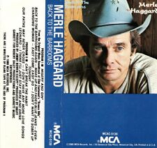 """MERLE HAGGARD """"BACK TO THE BARROOMS"""" CASSETTE 1980 mca"""