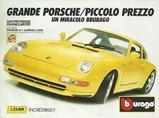 X1200 BBURAGO - PORSCHE 911 Carrera (1993) - Pubblicità 1994 - Advertising