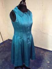 Nanette Lepore Teal Satin Dress 8