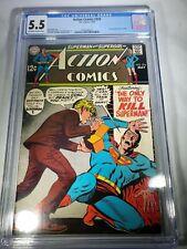 Action Comics 376 CGC 5.5   (Last app of Supergirl in title- 1969!!)
