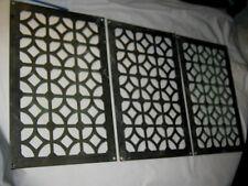 Antique #2 Bronze Flower Garden Panel Plaque Vent Floor Wall Grate Plate Sign Us
