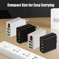 3A CaricaBatterie Universal Rapido 3 USB Quick Charger Adapter LED Display US/EU