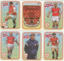 1997-98 Futera Fans Collection Arsenal F. C Trading Card EMBOSSED CARD SET (18)