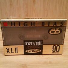 (New & Sealed) MAXELL XL II 90 min. Blank Audio Cassette Tape #CT37