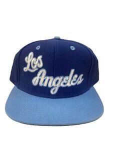 Los Angeles Lakers Baby Blue Script Adjustable Hat