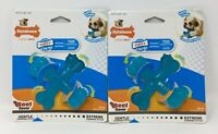 (2) Nylabone Puppy Chew Beef Flavored X-Small X Bone for Dogs up to 15 Pounds(7C