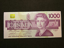 1988 $1000 DOLLAR BILL BANK NOTE CANADA BIRD SERIES EKX0031458 REPLACEMENT NOTE