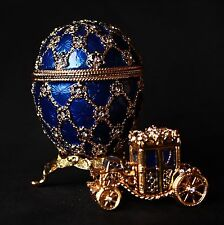 """St Petersburg Russian Faberge Egg: Royal Egg with the Carriage, 2.8"""""""