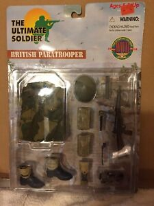 """New Ultimate Soldier British WWII Paratrooper 12"""" Uniform and Accessories set"""